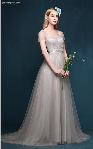 Draped Tulle Gown - YannyExpress  - 1