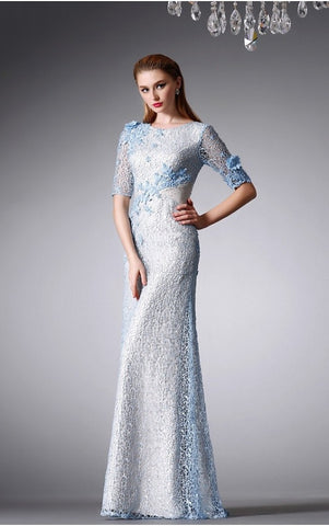 Embellished Mesh Mermaid Gown - YannyExpress  - 1