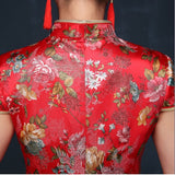 Floral Classic Traditional Bridal Qipao Gown - YannyExpress  - 6