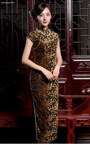 Floral Lace Night-Out Qipao Gown - YannyExpress  - 1