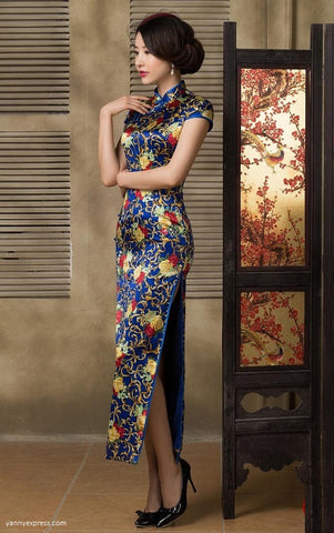 Floral Lace Sheath Qipao Dress - YannyExpress  - 1