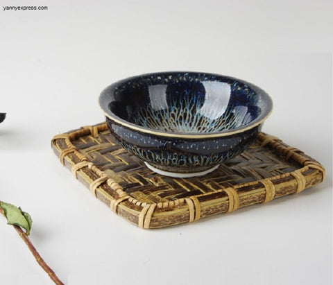 Hand Crafted Temmoku Jian Zhan 建盞 bowl - YannyExpress  - 1
