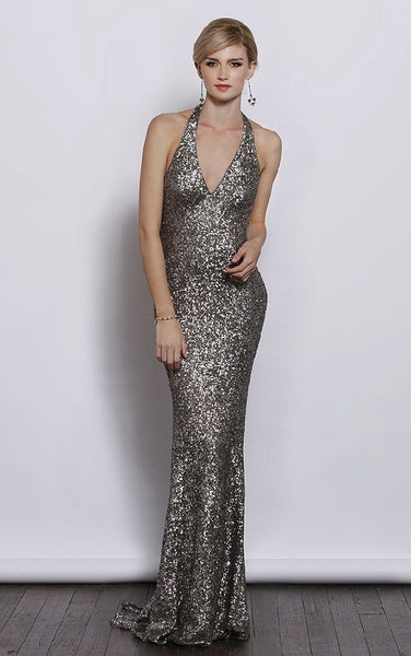 Glamorous Shimmer Evening Ball Dress - Glamour J3027 - YannyExpress  - 1