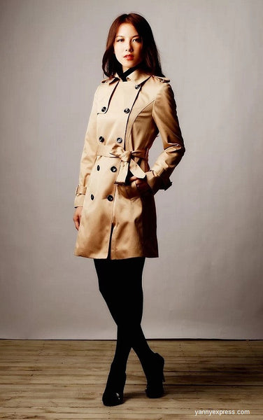 Korean Style Multi-way Two-piece Trench Coat - YannyExpress  - 1