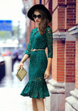 Lace Overlay Dress - YannyExpress  - 3