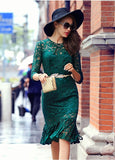 Lace Overlay Dress - YannyExpress  - 4
