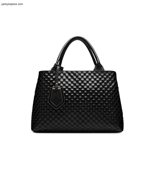 Large Selma Quilted Leather Satchel - YannyExpress  - 1