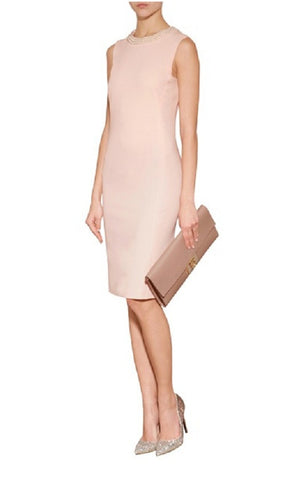 Sheath Dress with Pearl Collar - YannyExpress  - 1