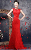Prettily Embellished Floor-Length Evening Dress Ball Gown - YannyExpress  - 1