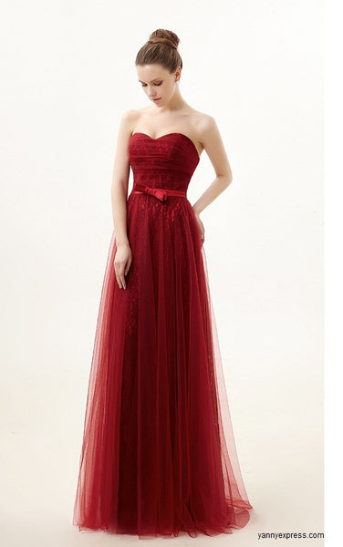 Princess Seamed Column Ball Gown Evening Wedding Reception Dress - YannyExpress  - 1