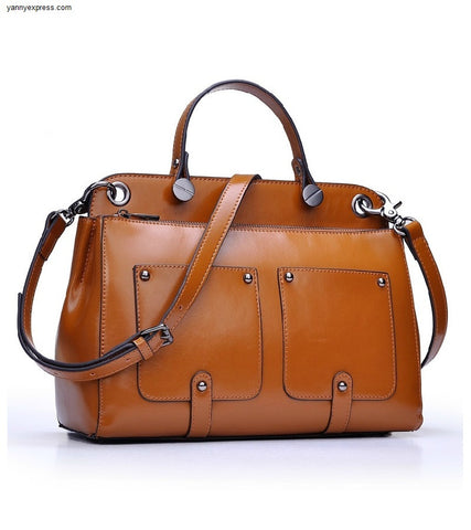Sac de Jour Leather Tote - YannyExpress  - 1