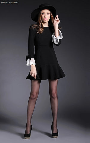 Seamed A-Line Dress - YannyExpress  - 1