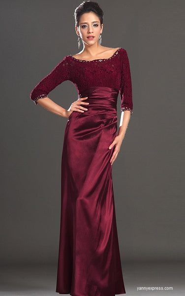 Sensationally Chic Floor-Length Evening Ball Gown Cocktail Dress - YannyExpress  - 1