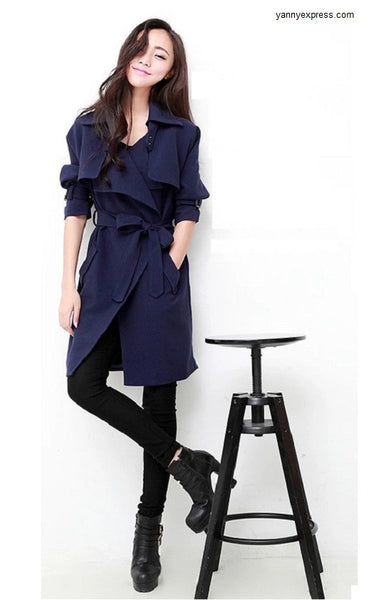 Soft Bonded Trench Coat - YannyExpress  - 1
