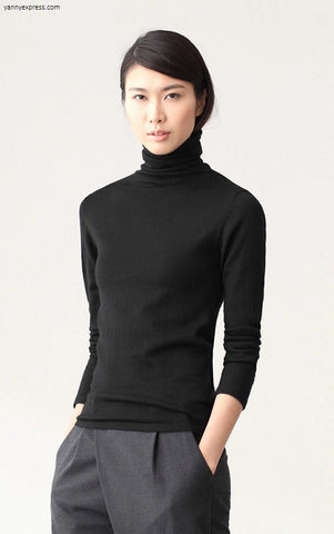 Soft Cotton Turtleneck - YannyExpress  - 1