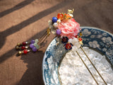 "Handmade Chinese Traditional Hairpins ""羽霞"" - YannyExpress  - 3"