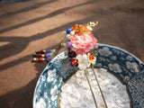 "Handmade Chinese Traditional Hairpins ""羽霞"" - YannyExpress  - 4"