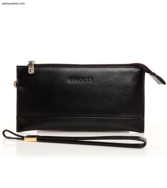 Vida Leather Clutch - YannyExpress  - 1