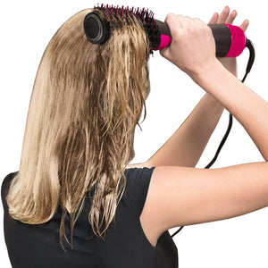 2 IN 1 One Step Hair Dryer Hot Air Brush Hair Straightener Comb Curling brush hair styling tools