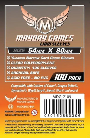 MAYDAY 100 PACK 54 X 80MM CARD SLEEVES