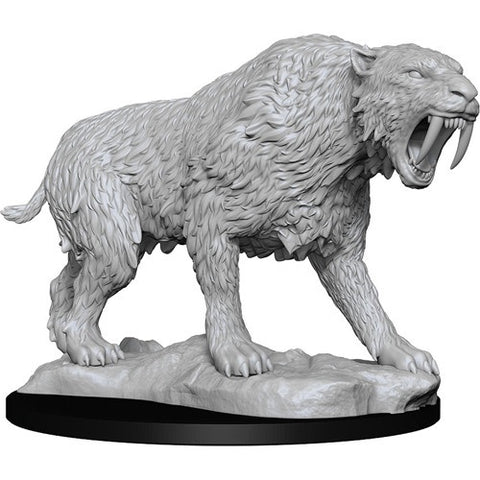 PATHFINDER BATTLES DEEP CUTS UNPAINTED MINI: SABER-TOOTHED TIGER