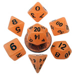 MDG MINI POLYHEDRAL DICE SET - GLOW ORANGE