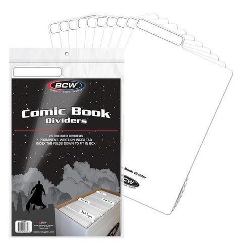 BCW COMIC BOOK DIVIDERS - WHITE (25 COUNT)