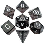 MDG MINI POLYHEDRAL DICE SET - ETHEREAL BLACK