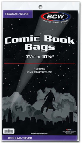 BCW COMIC BOOK BAGS (SILVER)