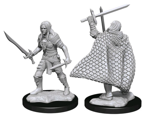 PATHFINDER BATTLES DEEP CUTS UNPAINTED MINI: ELF FIGHTER (MALE) #3
