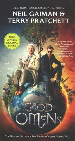 GOOD OMENS BY NEIL GAIMAN & TERRY PRATCHETT (TV SERIES COVER)