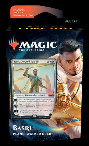 MAGIC THE GATHERING CORE 2021 BASRI PLANESWALKER DECK