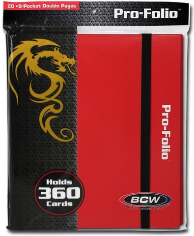 BCW PRO-FOLIO 9 POCKET BINDER - RED