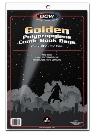 BCW GOLDEN COMIC BAGS
