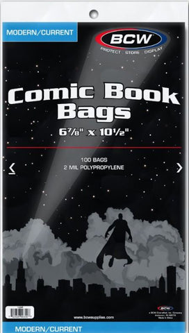 BCW COMIC BOOK BAGS MODERN / CURRENT SIZE