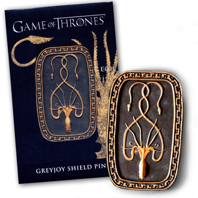 GOT GREYJOY SHIELD PIN