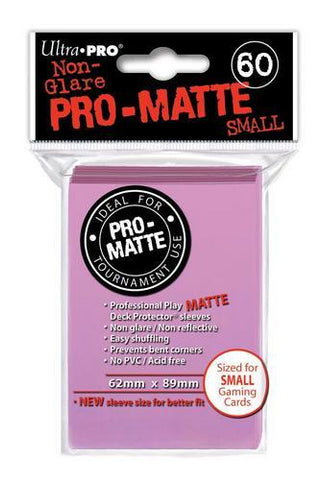 ULTRA PRO PRO-MATTE DECK PROTECTOR SLEEVES - SMALL - PINK