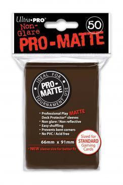 ULTRA PRO PRO-MATTE DECK PROTECTOR SLEEVES - BROWN