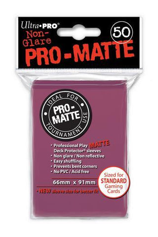 ULTRA PRO PRO-MATTE DECK PROTECTOR SLEEVES - BLACKBERRY