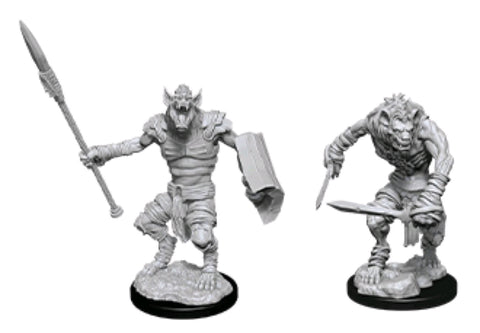 DUNGEONS & DRAGONS NOLZUR'S MARVELOUS UNPAINTED MINI: GNOLL & GNOLL FLESH GNAWER