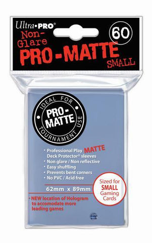 ULTRA PRO PRO-MATTE DECK PROTECTOR SLEEVES - SMALL - CLEAR