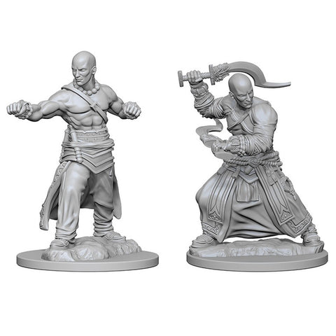 PATHFINDER BATTLES DEEP CUTS UNPAINTED MINI: HUMAN MONK (MALE)