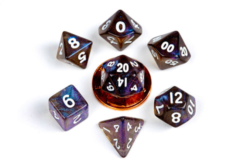 MDG MINI POLYHEDRAL DICE SET - STARDUST GALAXY