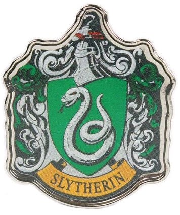 HARRY POTTER SLYTHERIN ENAMEL BADGE
