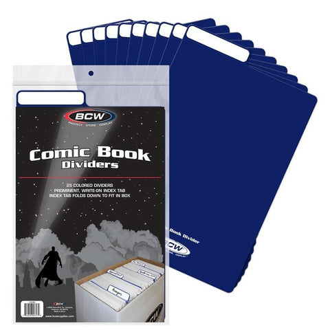 BCW COMIC BOOK DIVIDERS - BLUE (25 COUNT)