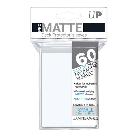 ULTRA PRO PRO-MATTE DECK PROTECTOR SLEEVES - SMALL - WHITE