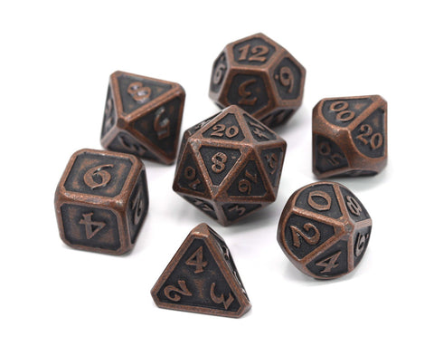 DIE HARD METAL DICE SET - MYTHICA DARK COPPER