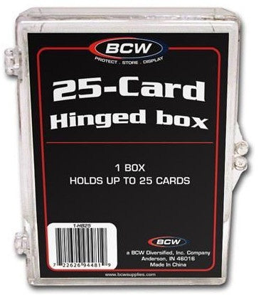 BCW HINGED BOX (25 COUNT)