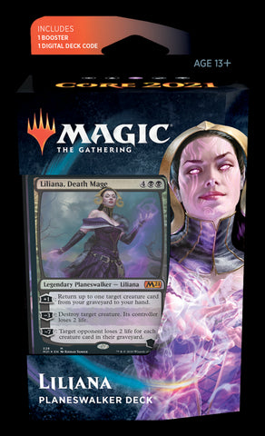 MAGIC THE GATHERING CORE 2021 LILIANA PLANESWALKER DECK