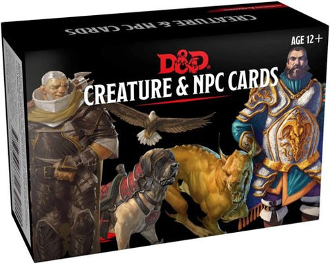 DUNGEONS & DRAGONS CREATURE & NPC CARDS